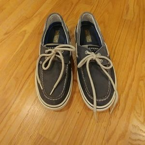 Sperry Top-Sider Blue Canvas Boat Shoes Mens Size